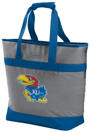 Rawlings Kansas Jayhawks 30 Can Tote Cooler In Team Colors With Team Logo On Front SKU #07883034111