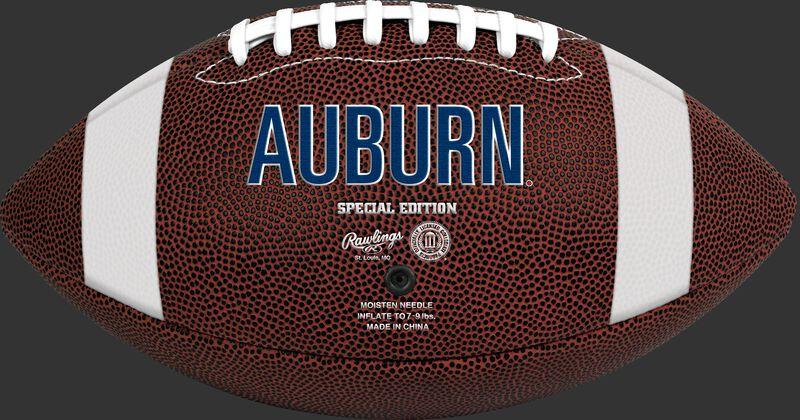Brown NCAA Auburn Tigers Football With Team Name SKU #04623003811