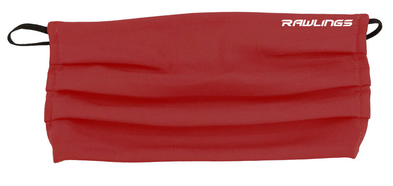 A red Rawlings performance sports mask with a Rawlings on the top right - SKU: RMSK-RED