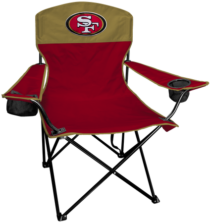 Front of Rawlings Gold and Scarlet NFL San Francisco 49ers Lineman Chair With Team Logo SKU #31021084111