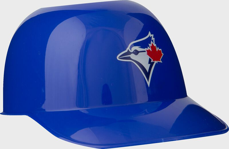 Front of Rawlings Blue MLB Toronto Blue Jays Snack Size Helmets With Team Logo SKU #01950004122