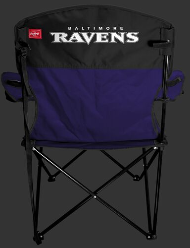 Back of Rawlings Purple and Black NFL Baltimore Ravens Lineman Chair With Team Name SKU #31021092111
