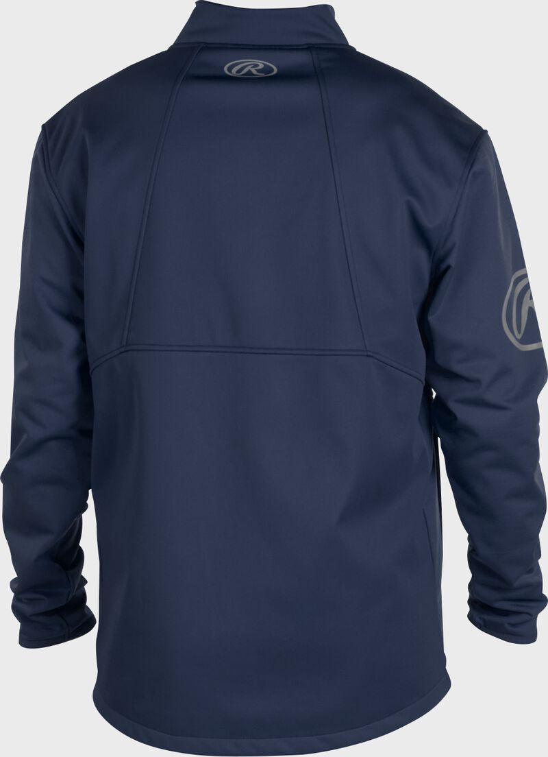 Back of a navy Rawlings mid weight Gold Collection jacket - SKU: GCMW2-N