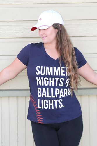 Women's Change Up White Baseball Stitch Hat