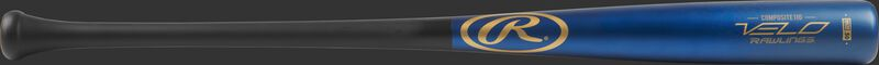 R110CR Velo Adult composite wood bat with a blue barrel and black handle