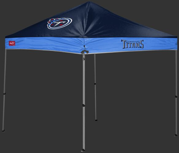 A  navy/light blue Tennessee Titans 9x9 shelter with a team logo on the left side - SKU: 03231069112