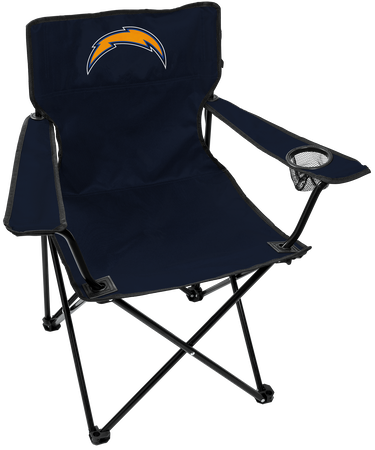 NFL Los Angeles Chargers Gameday Elite Chair with team colors and logo on the back
