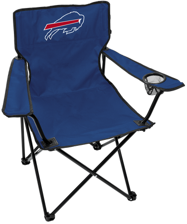 Front of Rawlings Blue NFL Buffalo Bills Gameday Elite Chair With Team Logo SKU #00551061111