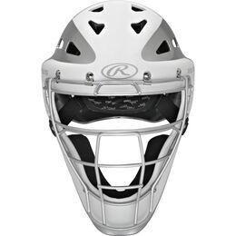Velo Youth Catchers Helmet White/Silver