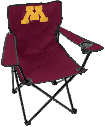 Front of Rawlings Maroon NCAA Minnesota Golden Gophers Gameday Elite Chair With Team Logo SKU #00563085111