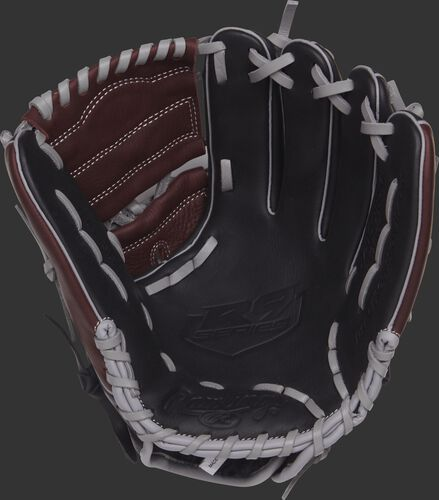 R9206-9BSG 12-inch Rawlings infield/pitcher's glove with a black palm and grey laces