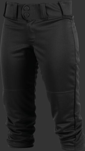 Front of Rawlings Black Adult Women's Low-Rise Softball Pant - SKU #WRB150