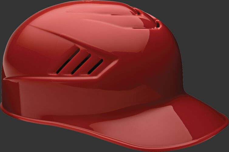 A scarlet CFPBH Coolflo adult base coach helmet with Coolflo vents