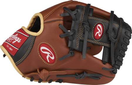 S1150I Sandlot Series 11.5-inch infield glove with a brown thumb and black I web