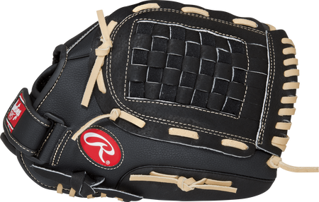 Thumb view of a black RSS130C RSB 13-inch outfield glove with a black Basket web