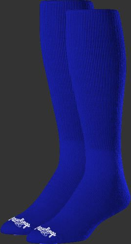 SOC-BLU royal blue over-the-calf socks