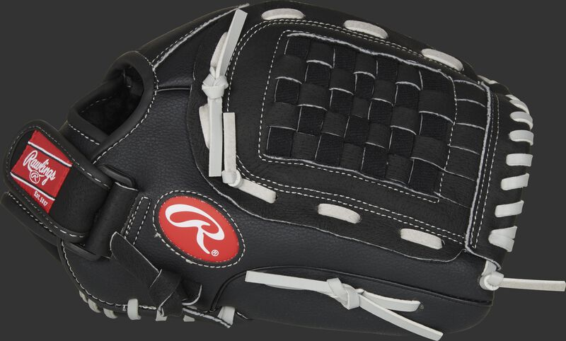 Thumb of a black RSB120GB 12-Inch RSB infield/pitcher's glove with a black Basket web
