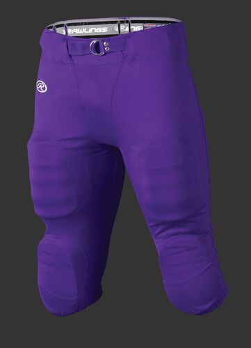Front of Rawlings Purple Adult Slotted Football Pant - SKU #FP147