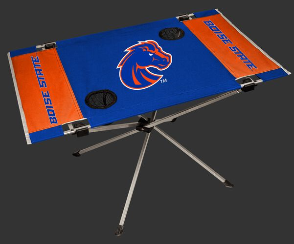 NCAA Boise State Broncos Endzone table featuring team colors and team logos and two cup holders SKU #04053125111