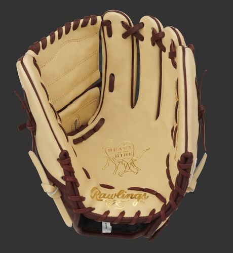 Camel palm of a Heart of the Hide 2-piece solid web glove - SKU: PRO205-9CSH