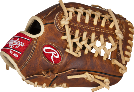 Thumb of a tan ACAHP205-4CA Heritage Pro 11.75-inch infield/pitcher's glove with a Modified Trap-Eze web