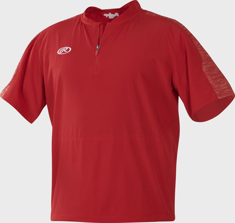 Front of Rawlings Scarlet Youth Launch Cage Jacket - SKU #YLNCCJ-B-89