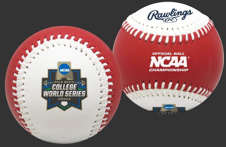 2019 NCAA College World Series Replica Red Baseball