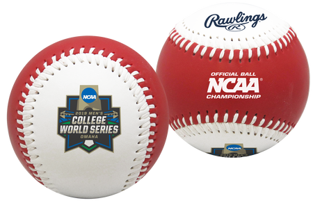 2019 NCAA College World Series Replica Red Baseball
