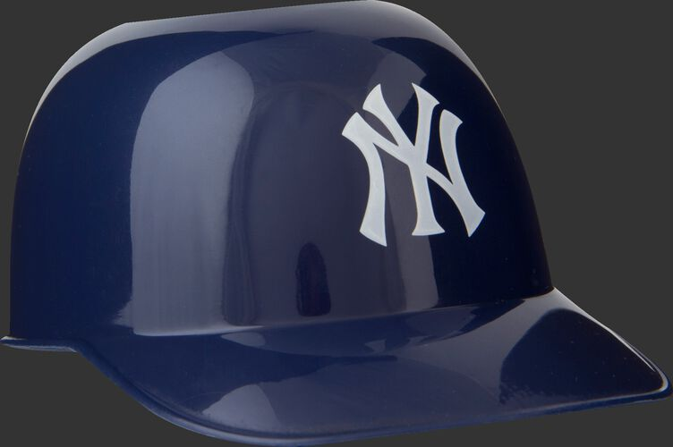 Front of Rawlings Navy Blue MLB New York Yankees Snack Size Helmets With Team Logo SKU #01950030121