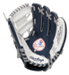 A navy, white & red Rawlings New York Yankees youth glove with the Yankees logo stamped in the palm - SKU: 22000030111 image number null