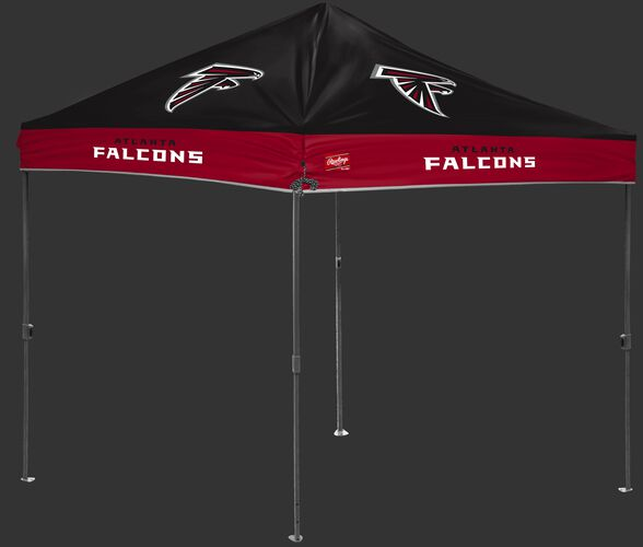 A black/red NFL Atlanta Falcons 10x10 canopy with team logos on each side - SKU: 02231060111