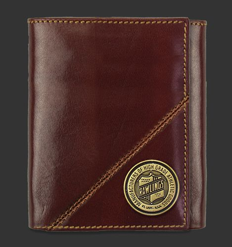 A Buffalo Voyager tri-fold wallet with an emblem coin on the bottom right corner - SKU: MW480-202
