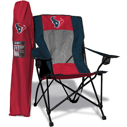 Front of Rawlings Red and Navy NFL Houston Texans High Back Chair With Team Logo SKU #09211093518