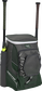 Front left angle of a dark green Rawlings Impulse baseball gear backpack with two bats - SKU: IMPLSE-DG image number null