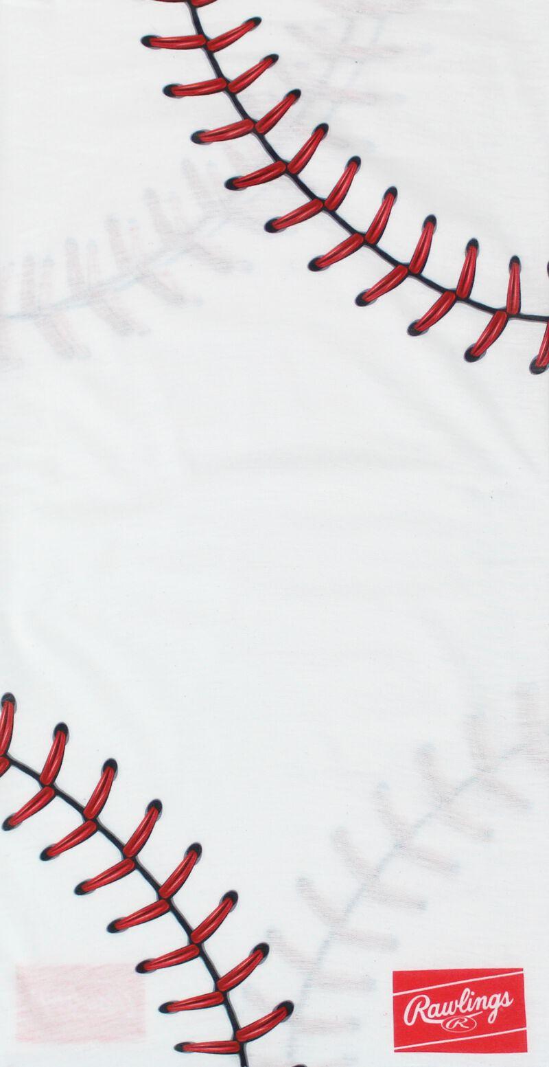 A white baseball stitch Rawlings multi-use neck gaiter - SKU: RC40001-100