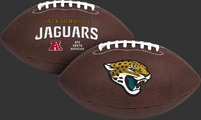 NFL Jacksonville Jaguars Air-It-Out youth football with team logo and team name SKU #08041091121