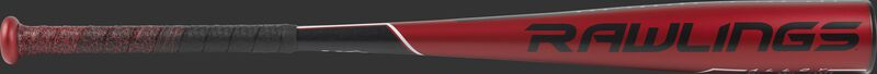 US955 5150 USA -5 baseball bat with a red barrel and black/red batting grip