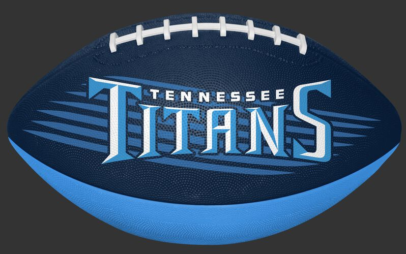 Navy and Blue NFL Tennessee Titans Downfield Youth Football With Team Name SKU #07731069121
