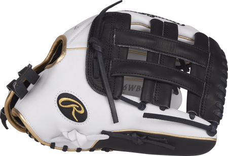 RLA130-6WBG Liberty Advanced color series 13-inch fastpitch glove with a white thumb, black trim and black H web