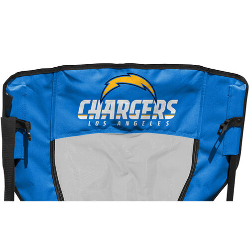Back of Rawlings Powder Blue and Navy NFL Los Angeles Chargers High Back Chair With Team Name SKU #09211083518