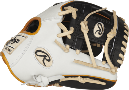 Rawlings PRO204W-2B Heart of the Hide R2G 11.5-inch infield glove with a white/black thumb and a black I web