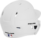 Back right of a matte white MACHEXTL Rawlings junior size batting helmet  image number null