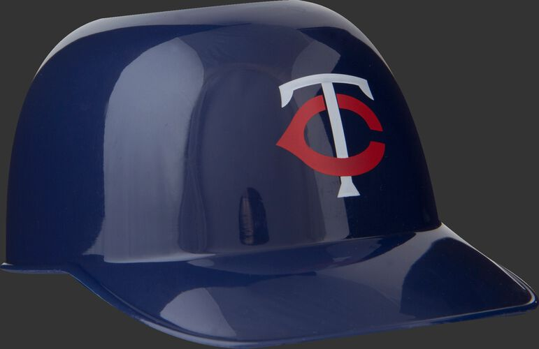 Front of Rawlings Navy Blue MLB Minnesota Twins Snack Size Helmets With Team Logo SKU #01950028121