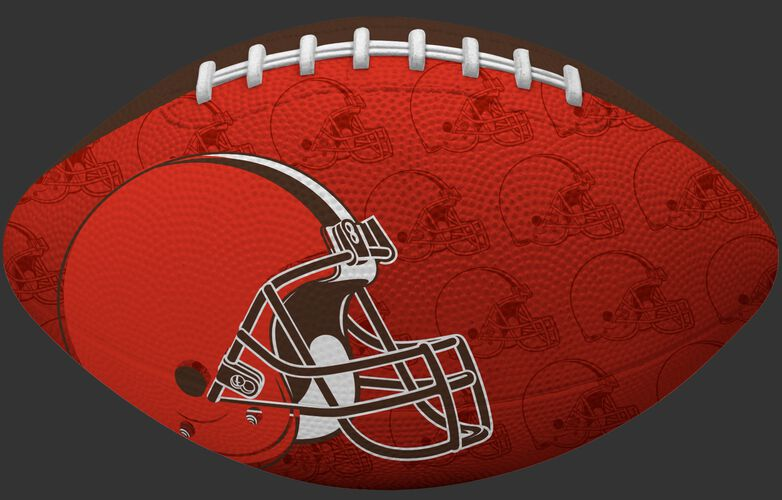 Orange side of a NFL Cleveland Browns Gridiron football with the team logo SKU #09501064122
