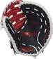 Navy palm of a Rawlings Breakout youth first base mitt with a red palm stamp and white laces - SKU: RSGBOYPTFM1NS image number null