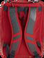 Back of a scarlet Rawlings Franchise backpack with gray shoulder straps - SKU: FRANBP-S image number null