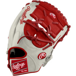 White/Red/Silver Custom Glove