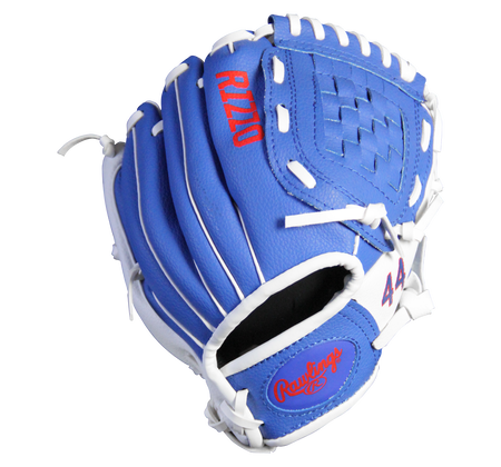 Back of a blue MLBPA 9-inch Anthony Rizzo player glove