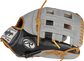 Thumb of a black/gray Heart of the Hide ColorSync 5.0 13-Inch outfield glove with a gray H-web - SKU: PRO3030-6GC image number null