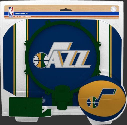 Rawlings Navy and Green NBA Utah Jazz Softee Hoop Set With Team Logo SKU #03544217114